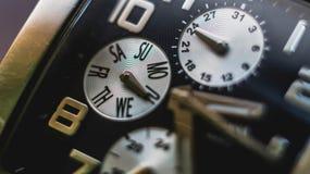 Wristwatch z chronometrem Obrazy Stock
