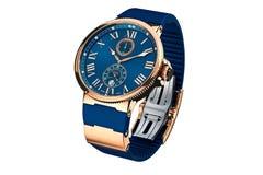 Wristwatch złoto Fotografia Royalty Free