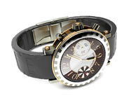 Wristwatches. Jewelry watches lying on a white background Royalty Free Stock Images