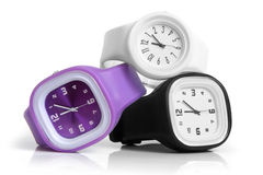 Wristwatches. On a white background Stock Photography