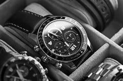Wristwatches. Kuala Lumpur, Malaysia - June, 8 2012: Close up of wristwatches in the box Stock Photo