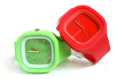 Wristwatches. On a white background Stock Images