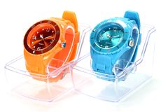 Wristwatches. On white background Stock Photography