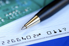 Free Write A Check To Pay The Credit Card Bill Royalty Free Stock Image - 12895286