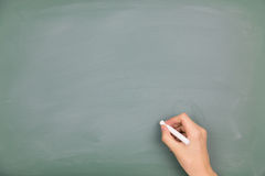 Write on the blackboard Royalty Free Stock Image