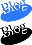 Blog on ellipse blue and black Royalty Free Stock Images