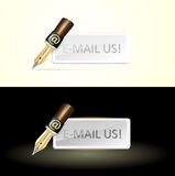 Write e-mail pen Stock Photo