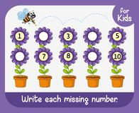 Write each missing number. Illustration vector illustration
