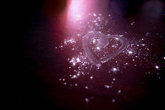 Write heart on powder. This photo present about write sign a heart on powder Royalty Free Stock Photography