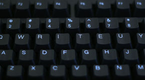 Write on Keyboard royalty free stock photos