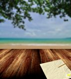 Write letter from nice beach Royalty Free Stock Images
