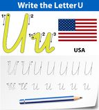 Write the letter U. Illustration stock illustration