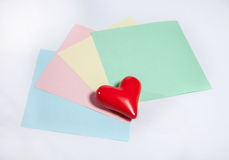 Write love letter Stock Images