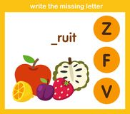 Write the missing lette. R,illustration, vector royalty free illustration