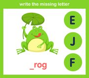 Write the missing letter royalty free illustration