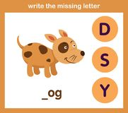 Write the missing letter. Illustration, vector royalty free illustration