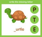 Write the missing letter. Illustration, vector stock illustration