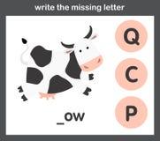 Write the missing letter. Illustration, vector vector illustration