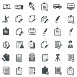 Write and news icon set. Royalty Free Stock Photography