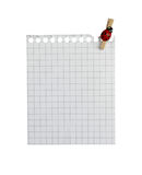 Write Note !. Write note on it! ...blank paper with peg on white background( isolated royalty free stock photos