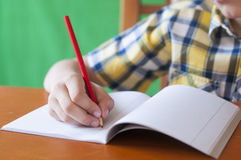 Write in a notebook Royalty Free Stock Photos