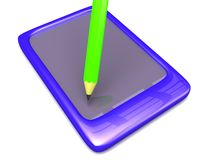 Write On Touch Pad Royalty Free Stock Images
