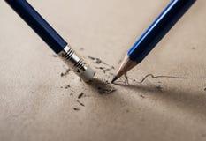Write schärften und Löschenkonzept lizenzfreies stockfoto