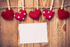 Write some words of love Stock Image