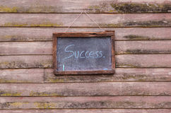 write success  on chalk board blackboard Stock Photography