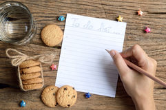 Write to do list Stock Photo