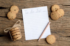 Write to do list Royalty Free Stock Photo