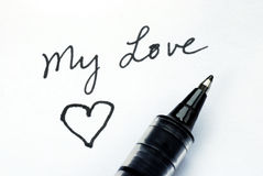 Write to my love one Stock Photo