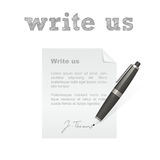 Write us isolated  icon Stock Image