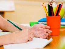Write weg von der Prüfung in Schule Lizenzfreie Stockbilder