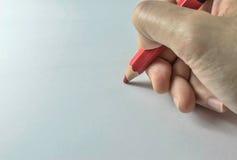 Write on white paper Stock Photo