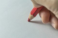 Write on white paper Stock Photography