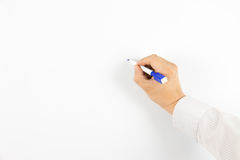 Write on the whiteboard Stock Photography