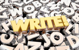 Write Word Letters Writing Ideas Royalty Free Stock Photography