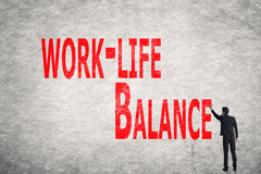 Write words on wall, Work-Life Balance Royalty Free Stock Image