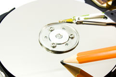 Write your data on hard drive Royalty Free Stock Photos