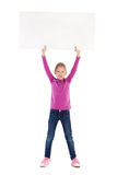 Write your message on a blank placard Stock Photos