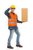 Write your message on this carton box. Royalty Free Stock Photography
