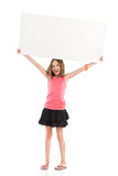 Write your message on white banner Stock Image