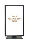 LCD white desktop royalty free stock images