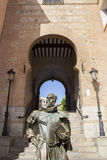 Writer Cervantes statue, Toledo, Spain Stock Photography