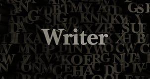 Writer - 3D rendered metallic typeset headline illustration Stock Photo