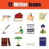 Writer icon set Stock Images
