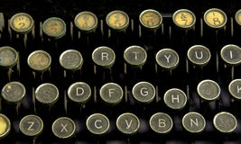 The Writer2. This image shows an old typewriter keyboard Stock Photo