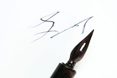 Writer ink and pen Stock Photos