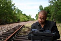 Free Writer On The Tracks Stock Image - 790711